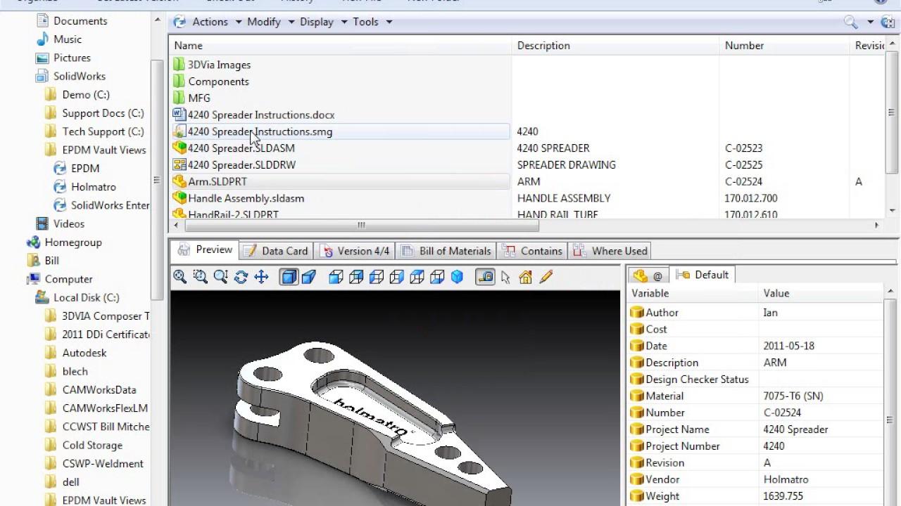 Using Enterprise PDM CAD Editor - YouTube